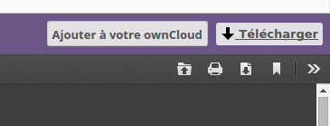 Si après avoir cliqué sur le lien pour n'arriver pas à télécharger, cliquez sur ce bouton situé en haut à droite de la nouvelle page