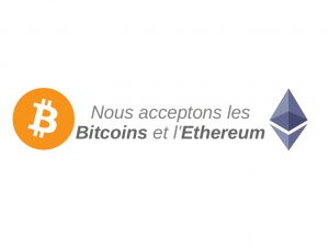 Bitcoin accepted here. Nous acceptons bitcoin